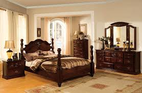 Royal Wooden Beds Amazon Com Furniture Of America Scarlette Classic Four Poster Bed