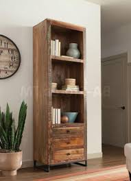 Oak Bookcases With Doors by Distressed White Bookshelf Mission Bay 6 Shelf Bookcase Oak Hill
