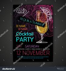 disco cocktail party poster stock vector 235441906 shutterstock