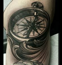 tattoo compass realistic david vega certified artist
