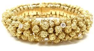 golden diamond bracelet images Bulgari exremely rare authentic bvlgari 18k yellow gold nugget jpg