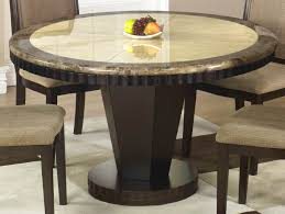 round black marble dining room set by acme furniture acme