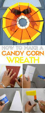 how to make a candy corn wreath for halloween the crafty blog