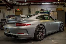 porsche wrapped satin full body clear bra wrap on rhodium silver gt3 by request