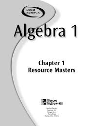 glenco algebra 1 chapter 1 educational assessment equations