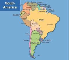 south america map with country names and capitals map of south america by chong hui geography 7 omega