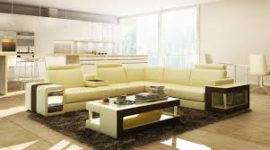Narrow Leather Sofa Coffee Table Sectional Coffee Table Casa Beige And Brown Leather