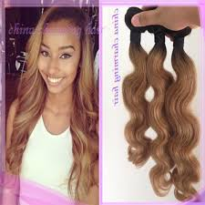 honey weave root 1b 27 honey ombre two tone peruvian human
