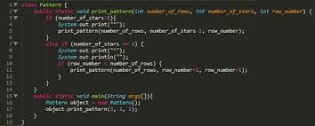 java pattern programs for class 10 how to print a star pattern without using a loop with good logic quora