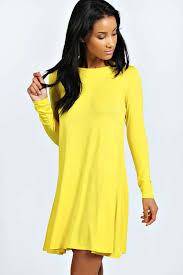 boohoo april long sleeve swing dress where to buy u0026 how to wear