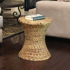 wicker end table water hyacinth in wicker baskets
