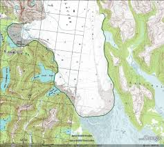 Alaska On A Map by Brady Glacier Alaska Begins A Substantial Retreat U2013 From A