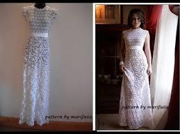 wedding dress patterns free how to crochet wedding dress motif free pattern tutorial