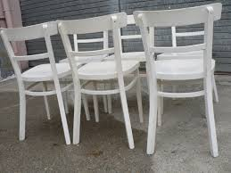 Miami Bistro Chair White Bistro Chairs Noosa White French Bistro Style Timber Cross