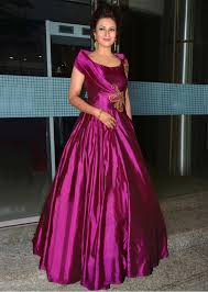 party wear gowns divyanka tripathi in kalki magenta gown at reception