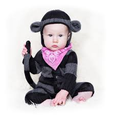 Baby Halloween Costumes Monkey Monkey Suit Baby Halloween Costume Toddler Handmade Knit