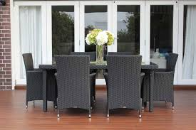 6 seater outdoor dining table 6 seater outdoor wicker dining setting charcoal hazelnut outdoor