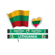 Flag Of Lithuania Picture Heart Pin Lithuania The Official Eurovision Song Contest Shop