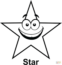 free printable large shapes coloring pages shape coloring pages five pointed star page free