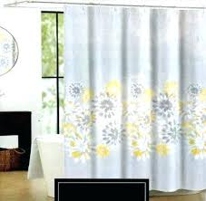 Gray And Yellow Curtains Grey And Yellow Shower Curtain Floral Curtains Gray And Yellow