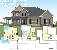 3500 sq ft house plans plan 77601fb exclusive country farmhouse with 2 master suites
