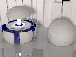 Space Saving Dining Table Kure A Spherical Space Saving Dining Table