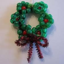 mini clothespin wreath ornament for