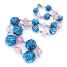 blue glass necklace vintage images Glass beads clarice jewellery jpg