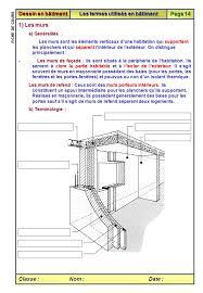 fiche de cours sur les principaux termes utilisés en bâtiment