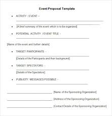 ideas collection free sample proposal letter for event for cover