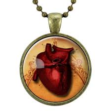 red gothic necklace images Red anatomical heart necklace gothic jewelry goth necklace jpg