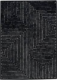 Black White Rugs Modern Black And White Modern Rug Bedroom Contemporary Black And White