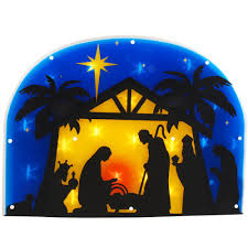 Outdoor Lighted Nativity Set - nativity 21 inch shimmer lighted silhouette small lighted