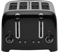 Dualit Sandwich Toaster Buy Dualit Dl4b 4 Slice Toaster Black Free Delivery Currys