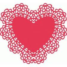 heart doily silhouette design store heart lace doily cameo