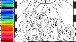 princess celestia coloring page crayola markers kokicute twilight