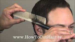 cutting boy hair with scissors how to cut men s hair scissor over comb barbering tecnnique