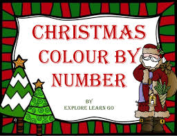 christmas colour number susandgordon teaching resources tes