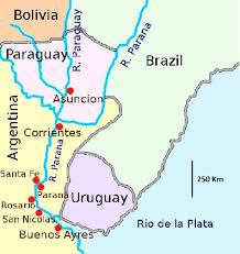 parana river map a 1870 map 25 showing asunción to the paraguay river