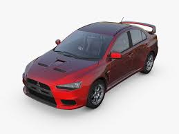 mitsubishi evo red and black mitsubishi lancer evo iv 3d model cgtrader