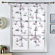 Designer Kitchen Curtains Aliexpress Com Buy Floral Design Kitchen Curtains Short Kitchen