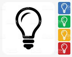 Flat Light Bulb Lightbulb Icon Flat Graphic Design Stock Vector Art 493651124 Istock