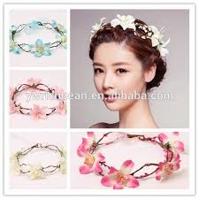 flower hairband flower headband flower crown garland tiara wedding crown