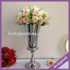 Silver Vases Wedding Centerpieces Ldj513 Silver Trumpet Wedding Centerpiece Vases For Wedding And