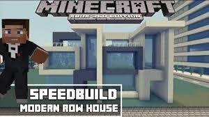 minecraft xbox 360 modern row house speedbuild youtube