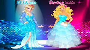 barbie elsa friends dress game