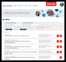 have you seen the solidworks world proceedings site