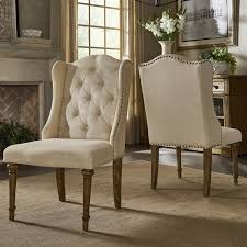 Tufted Dining Chair Set Gilderoy Button Tufted Wingback Dining Chairs Set Of 2 By