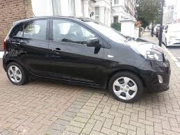 2012 kia picanto one 1 0 petrol manual 5 door hatchback black