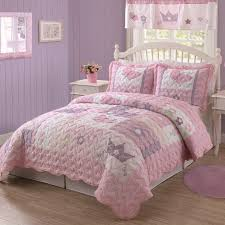 girls bed crown pink polka dot toddler bedding on soft brown wooden bed for